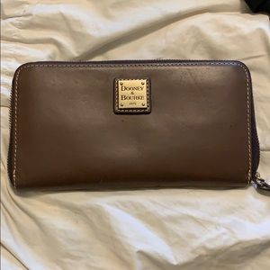 Dooney and Burke brown leather wallet